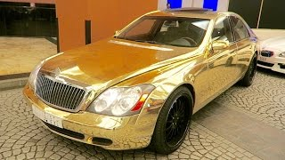 GOLD MAYBACH  - ONLY IN DUBAI !!!