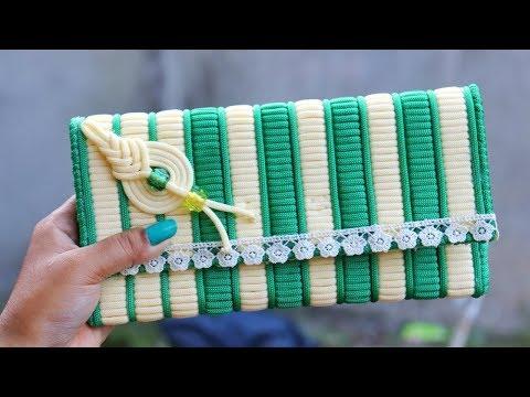 How to make Macrame ladies hand bag Or Purse Using Plastic Canvas | DIY Craft Unique Idea