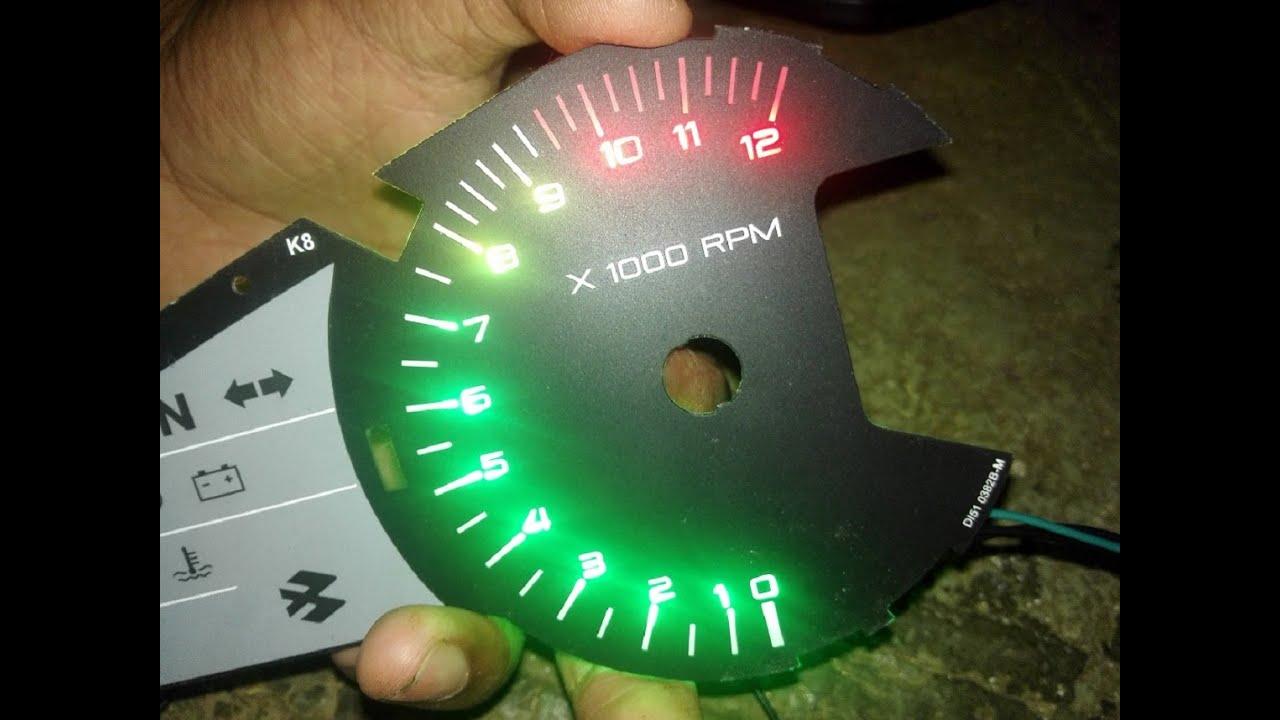 medium resolution of led tachometer rpm meter shift light arduino installed on pulsar rs200 part 2