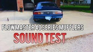 Flowmaster 40 Series Mufflers Sound Test -- 1981 Z28 + FlowMaster 40 Series Mufflers