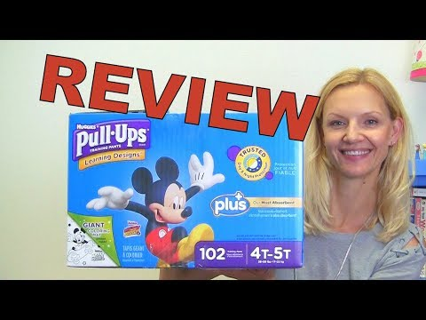 Pull-Ups Learning Designs - Mom's Review. Huggies Training Pants. CARS, Mickey Mouse,  Lightning McQ