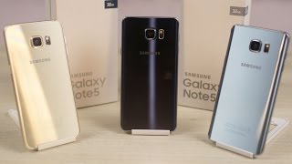 Galaxy Note 5 - Color Comparison & Unboxing the Indian Retail Unit!