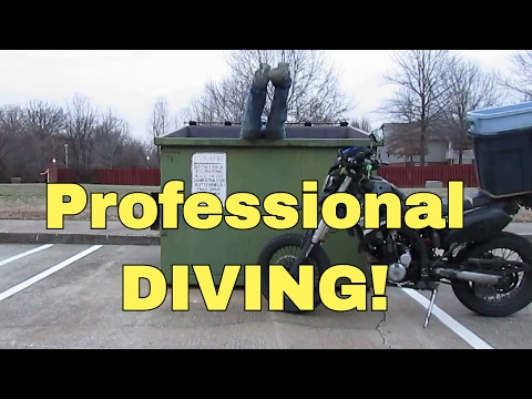 Motorcycle Riding Dumpster Diving Scrap Metal Scrapping Brass Copper Gateway Computer Finding Oaf