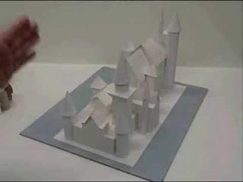 Origami Japanese temple/Castle/Pagoda - YouTube   360x480
