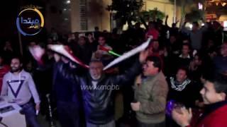 صور وفيديو| بلد الننى تحتفل بالهدف الأول