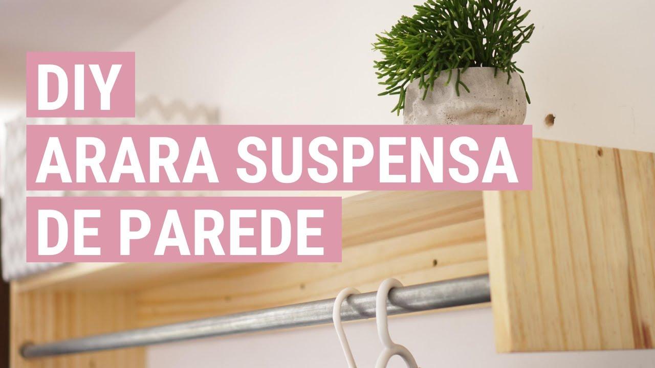 COMO FAZER ARARA DE ROUPAS DE PAREDE SUSPENSA (CLOSET)  3f5f5e7533a