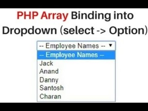 Bind array into select option dropdown in php using foreach loop