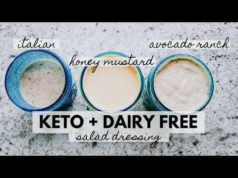 Keto Dairy-Free Salad Dressings | Honey Mustard, Avocado Ranch, Italian