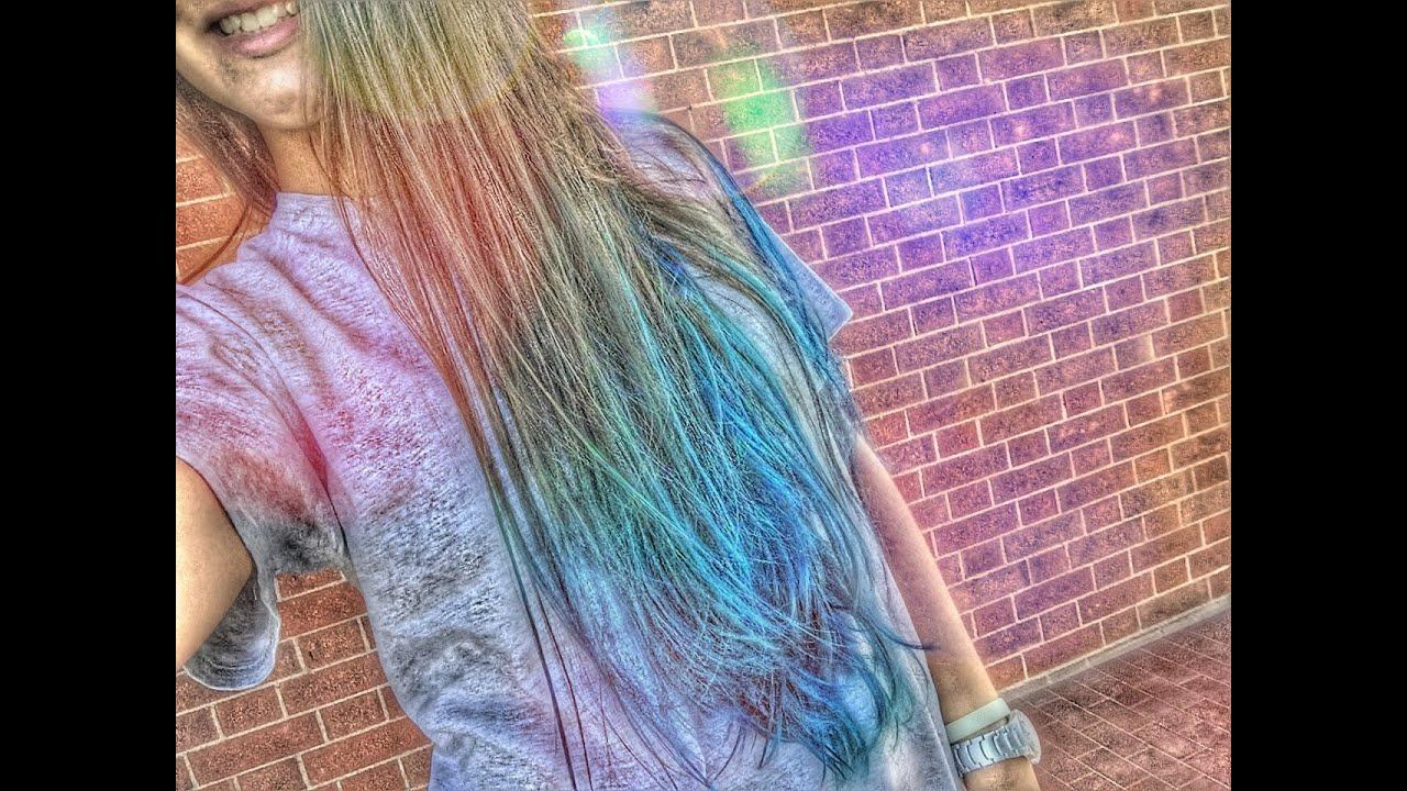 Diy Blue Hair Come Fare I Capelli Azzurri Youtube