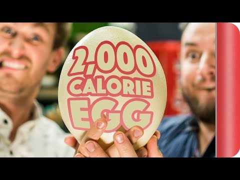 We Eat The 2000 Calorie Egg!