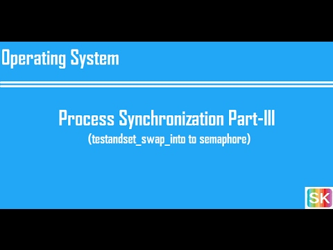 Lecture 7: Process Synchronization Part-III (testandset_swap_into to semaphore)