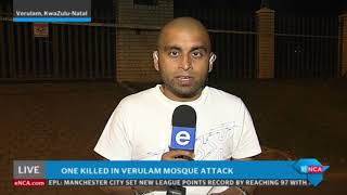 Latest update on Verulam mosque attack