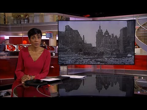 Dresden 75th anniversary of fire storm (WWII) (Germany/(Global)) - BBC News - 13th February 2020