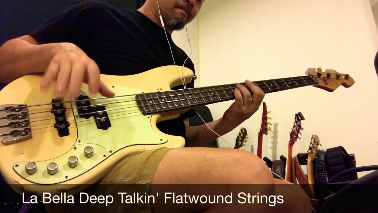flatwound strings comparison la bella deep talkin 39 flats vs thomastik infeld jazz flats youtube. Black Bedroom Furniture Sets. Home Design Ideas