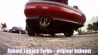 Subaru Legacy Turbo - original exhaust x Apexi N1 exhaust