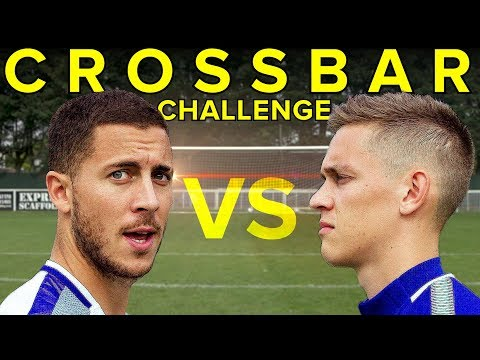 EDEN HAZARD Crossbar Challenge - WHO WINS?