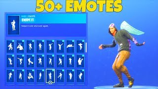 (NEW) MONIKER SKIN with 50+ EMOTES SHOWCASE! Fortnite Battle Royale