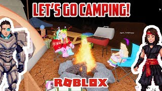 Roblox: Camping and Backpacking with Izzy's Toy Time!