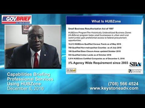 SBA HUBZone Capabilities Briefing - Keystone Advisors LLC