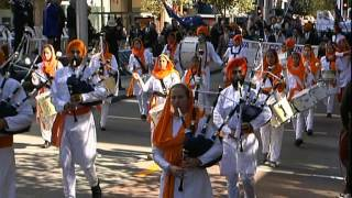 WA SIkh Band Marching in the Perth ANZAC day Parade 2015