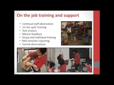 Bunnings structured workplace learning for students with a disability