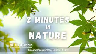 2 Minutes in Nature - Welcome