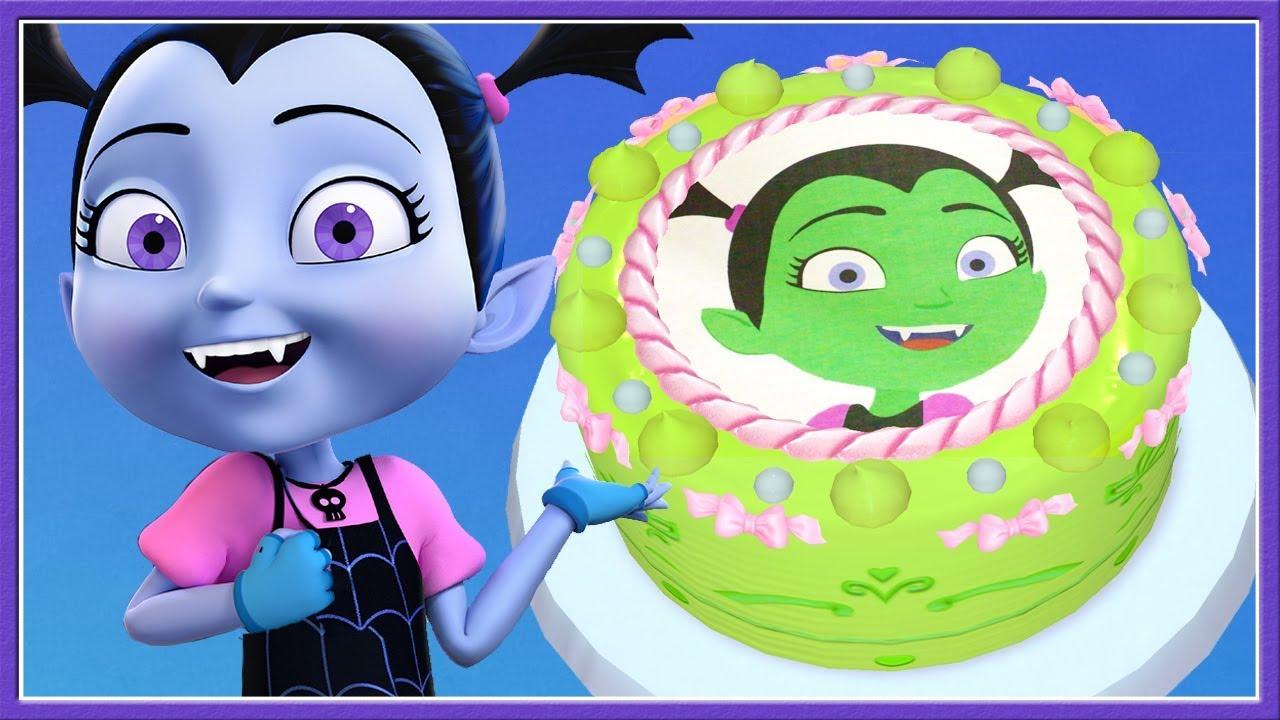 Baby Learn Colors & Cooking Vampirina Disney Junior Birthday Cake ...