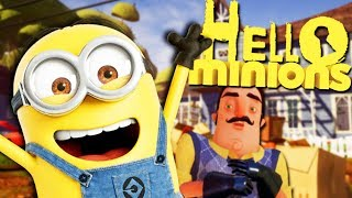 my new neighbor is a minion? what is happening? hello neighbor mods gameplay