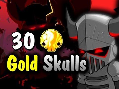 Castle Crashers 30 Gold Skulls Insane Mode Complete AGAIN! LEGIT