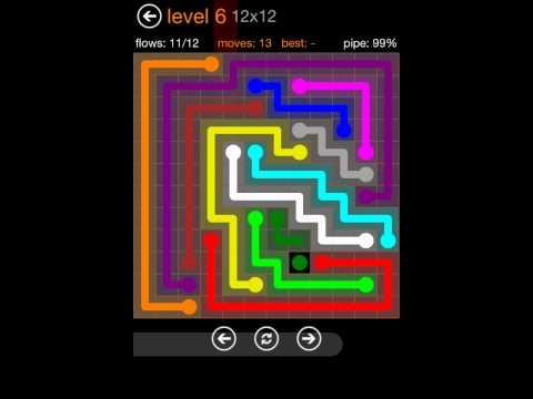 Flow Free 12x12 Levels 1-10 Solutions Jumbo Pack (iPad)
