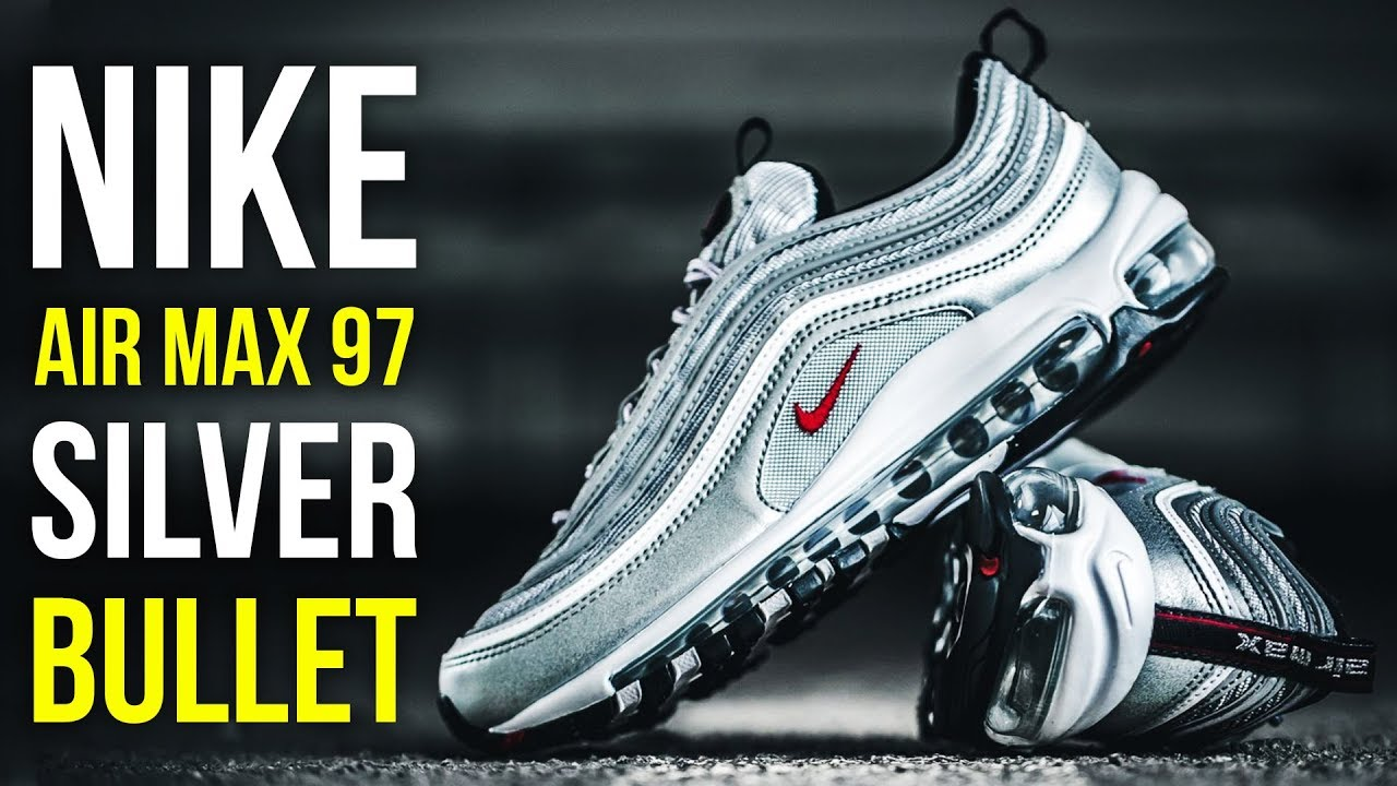 74b904bd44 Nike air max 97 silver bullet   Best Nike shoes 2019 - YouTube
