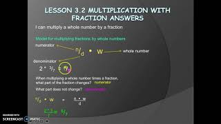 Lesson 3.3 ~ Multiplication with Fractional Solutions