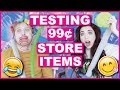 Testing 99 Cent Store Products With My Boyfriend!