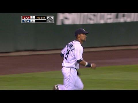 Gutierrez makes the catch in center