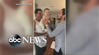 Maks and Peta's baby gets dancing lessons from Uncle Val