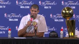 Postgame: Shane Battier | Spurs vs Heat | June 20, 2013 | Game 7 | NBA Finals 2013