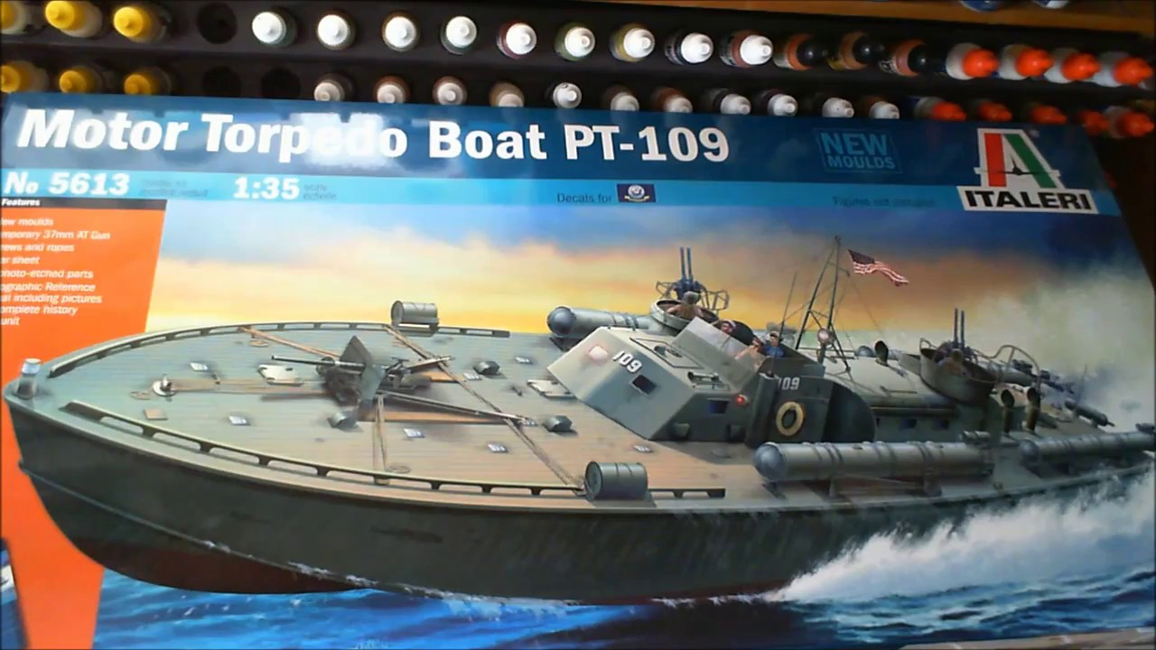 ITALERI 1/35 scale Motor Toredo Boat PT 109 Build update ...