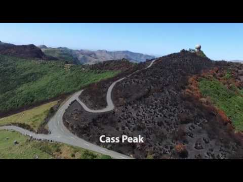 Aerial video showing fire damage on the Christchurch Port Hills (edited version)