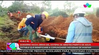 Multinoticias| Gobierno inicia obras del sistema de abastecimiento de agua potable en Waspam