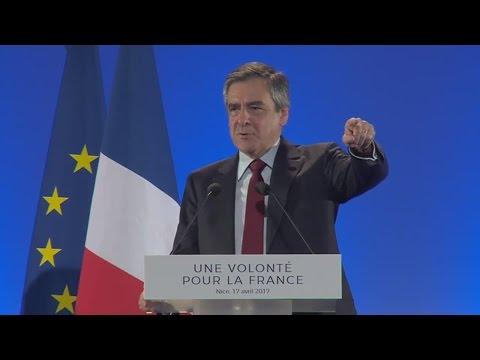 François Fillon fait siffler les journalistes au meeting de Nice (LCI, 17/04/17)