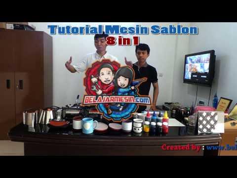 Tutorial Mesin 8in1 (Press Baju, Mug, Piring, Tas, DLL)
