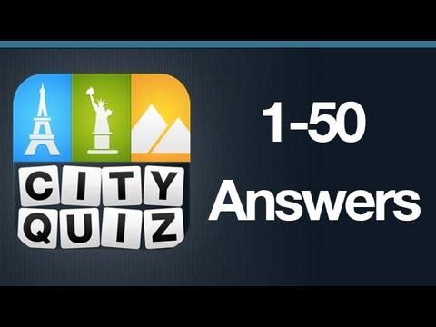 City Quiz Answers Levels 1-50