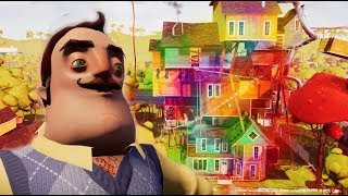 MAKING A MESS - Hello Neighbor Paint Gun Mod