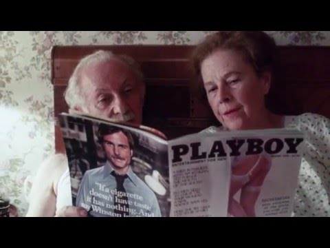Lee Strasberg and Ruth Gordon read Playboy magazine