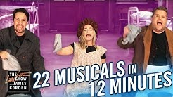 22 Musicals In 12 Minutes w/ Lin Manuel Miranda & Emily Blunt