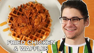I Made Fried Chicken And Waffles With Leftover Sourdough Starter • Tasty