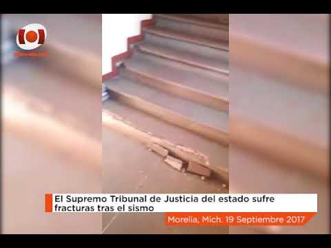 El Supremo Tribunal de Justicia del Estado de Michoacán sufre fracturas tras el sismo