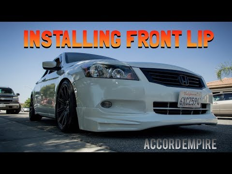Installing a Front Lip on a Honda Accord & Buying More Car Parts!