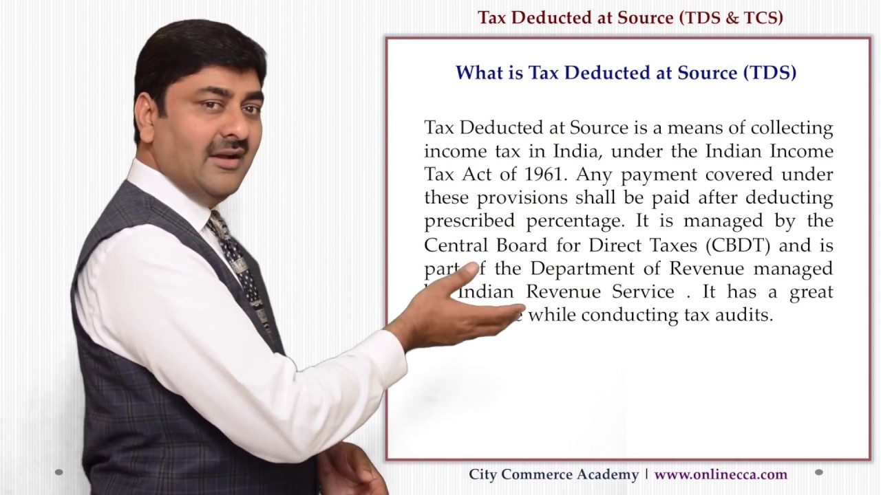 Tds Tax Deducted Collection At Source Meaning Concept