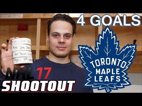 Auston Matthews 4 Goal Debut - NHL 17 - Shootout Commentary ep. 8